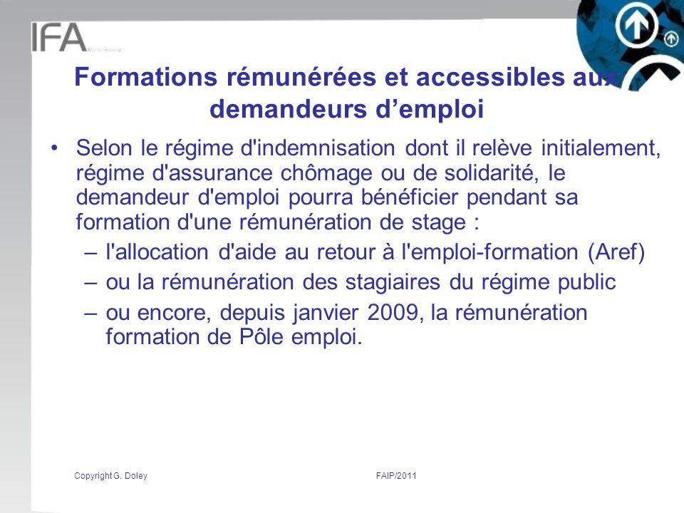 Formations rémunérées et accessibles aux demandeurs d'emploi