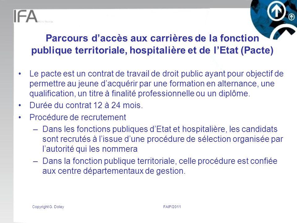 Parcours d'accès aux carrières de la fonction publique territoriale, hospitalière et de l'Etat (Pacte)
