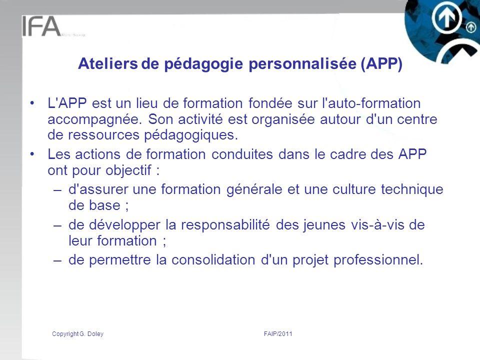 Ateliers de pédagogie personnalisée (APP)