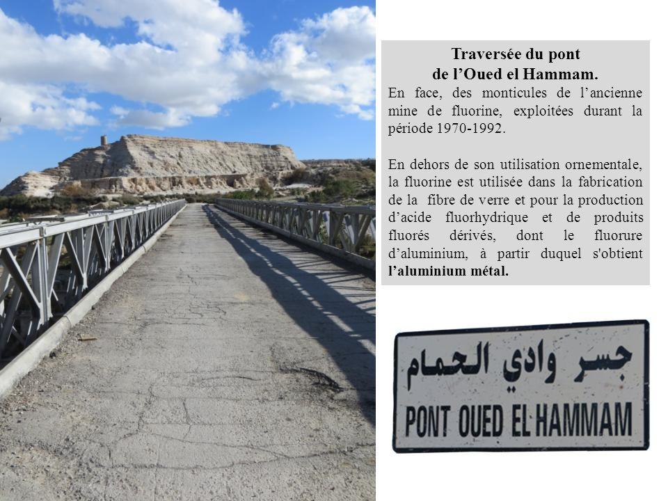 Traversée du pont de l'Oued el Hammam.