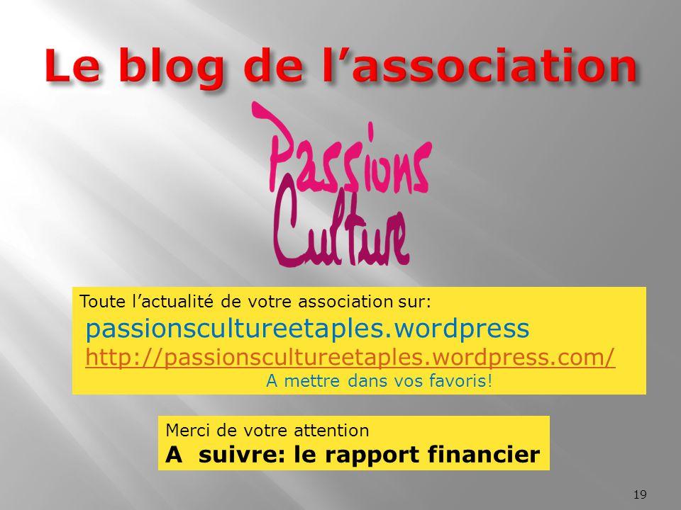 Le blog de l'association