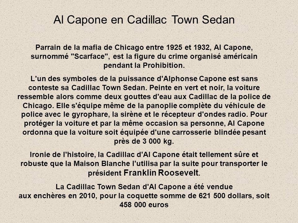 Al Capone en Cadillac Town Sedan