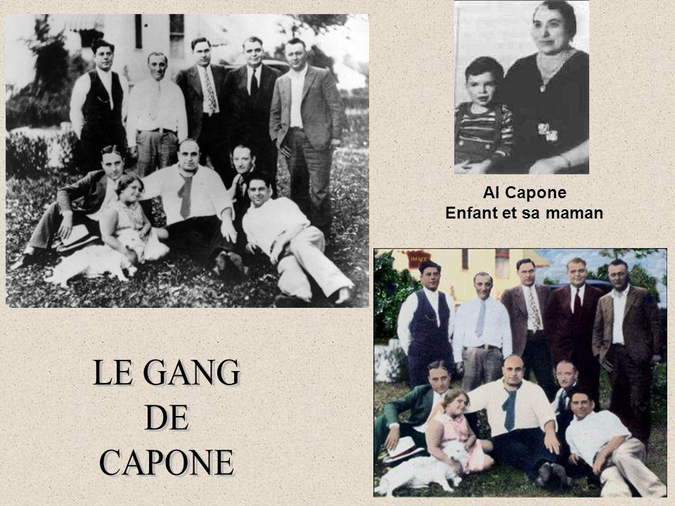 Al Capone Enfant et sa maman LE GANG DE CAPONE