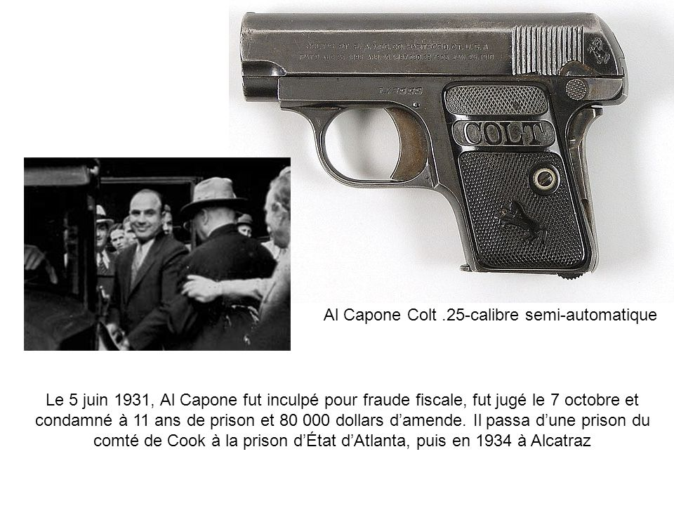 Al Capone Colt .25-calibre semi-automatique