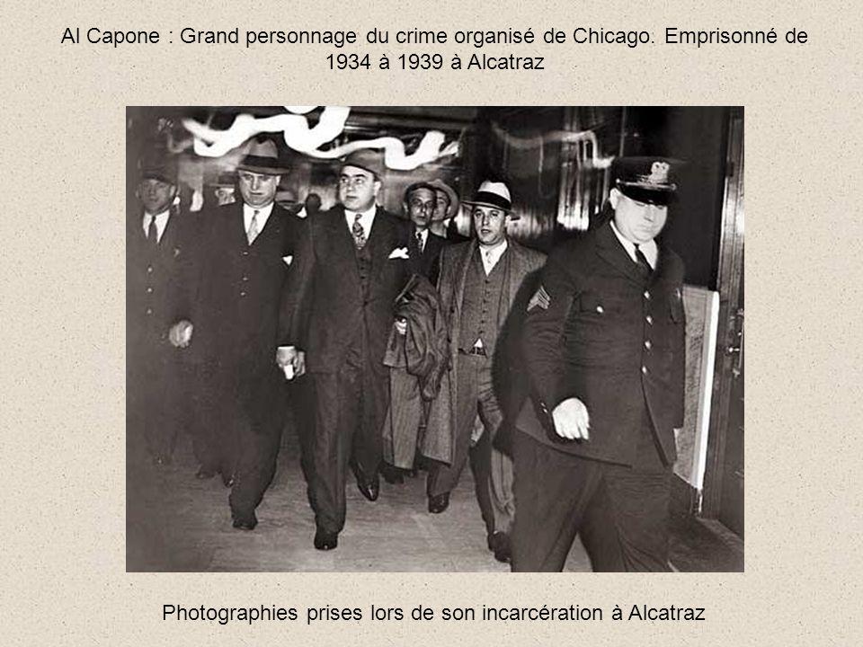 Photographies prises lors de son incarcération à Alcatraz