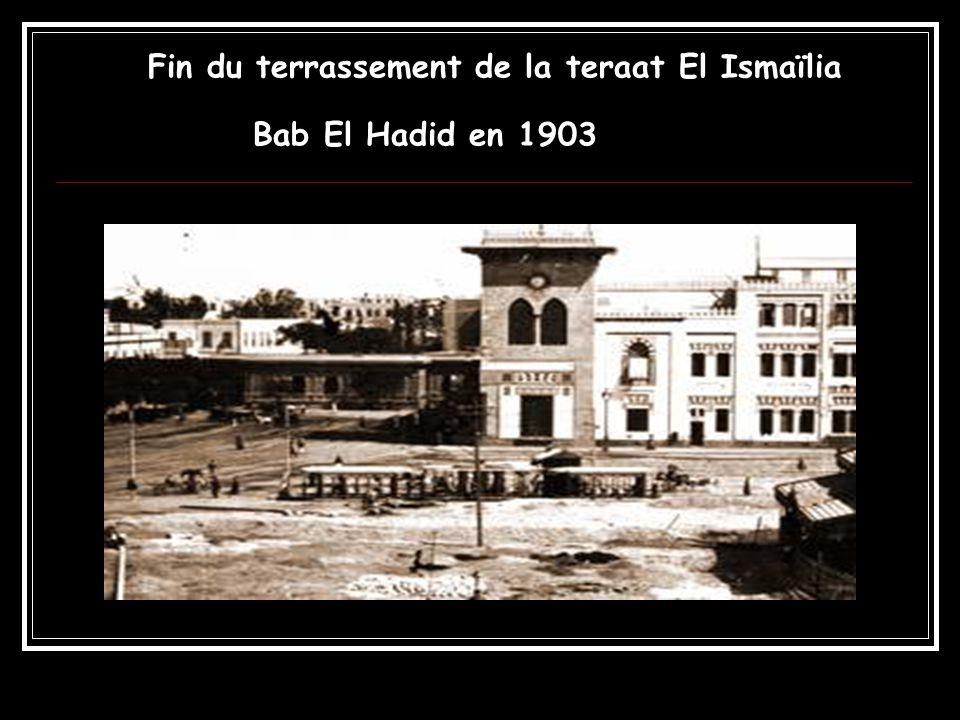 Fin du terrassement de la teraat El Ismaïlia