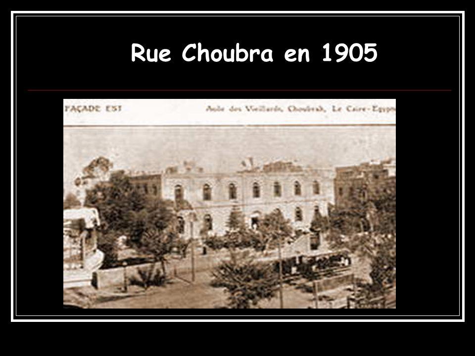 Rue Choubra en 1905