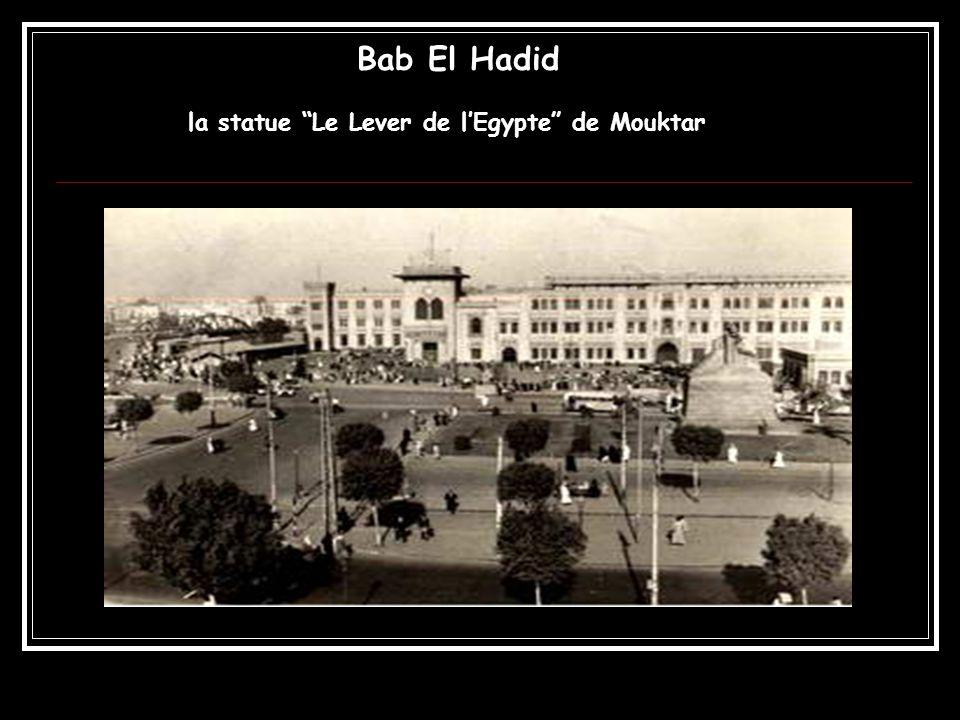 Bab El Hadid la statue Le Lever de l'Egypte de Mouktar
