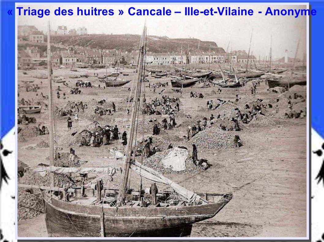 « Triage des huitres » Cancale – Ille-et-Vilaine - Anonyme