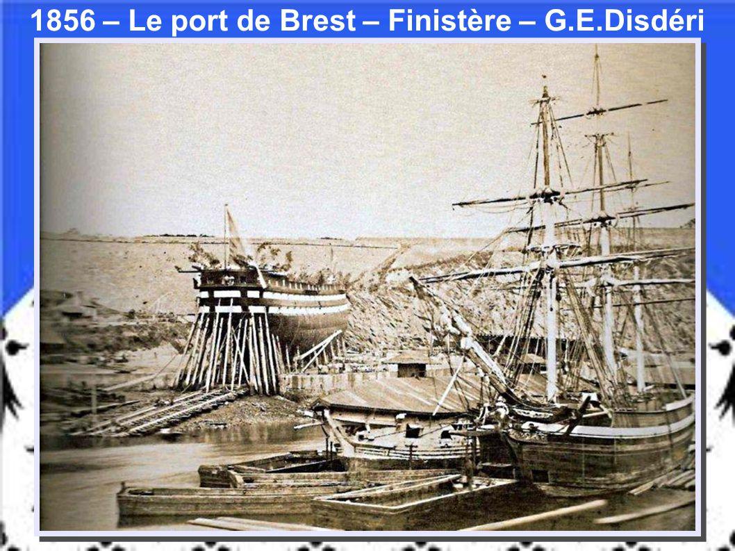 1856 – Le port de Brest – Finistère – G.E.Disdéri