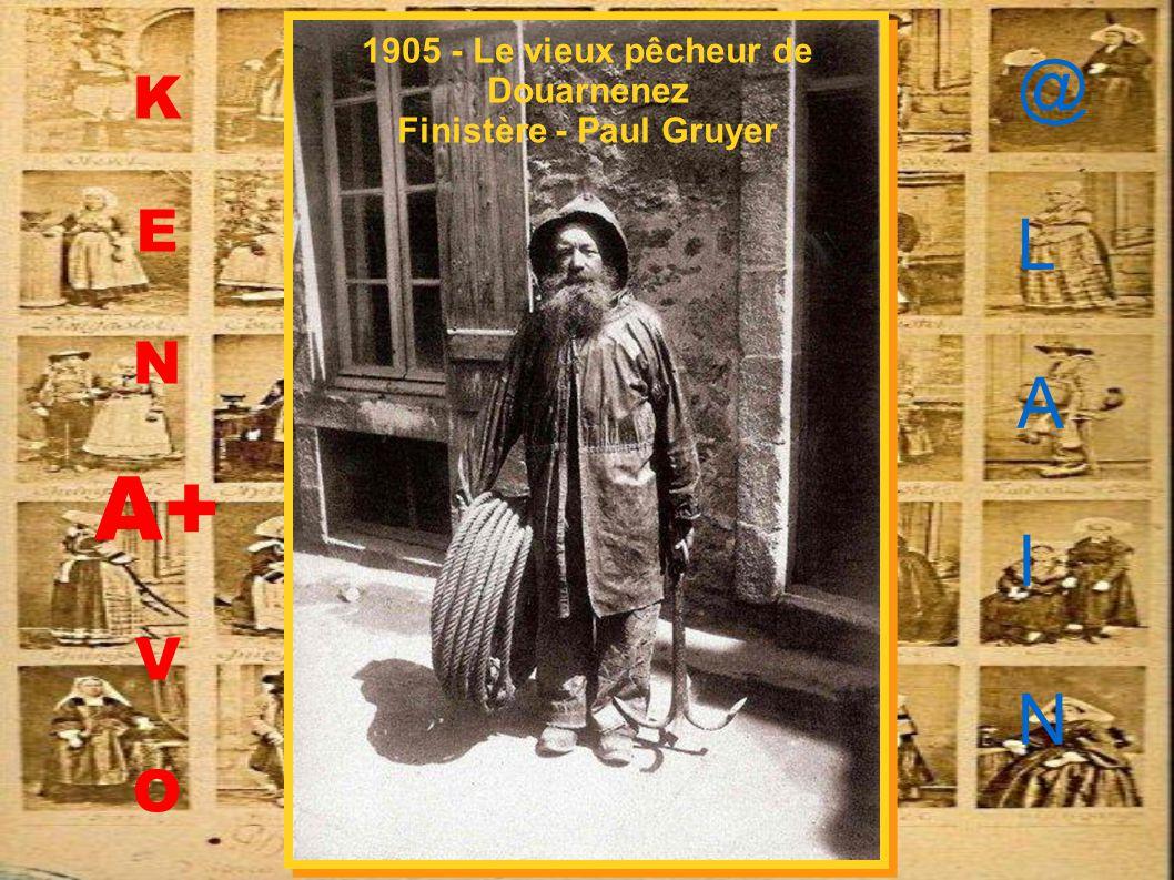 1905 - Le vieux pêcheur de Douarnenez Finistère - Paul Gruyer