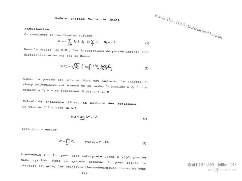 Extrait Thèse (1993) Doctorat Saïd Koutani