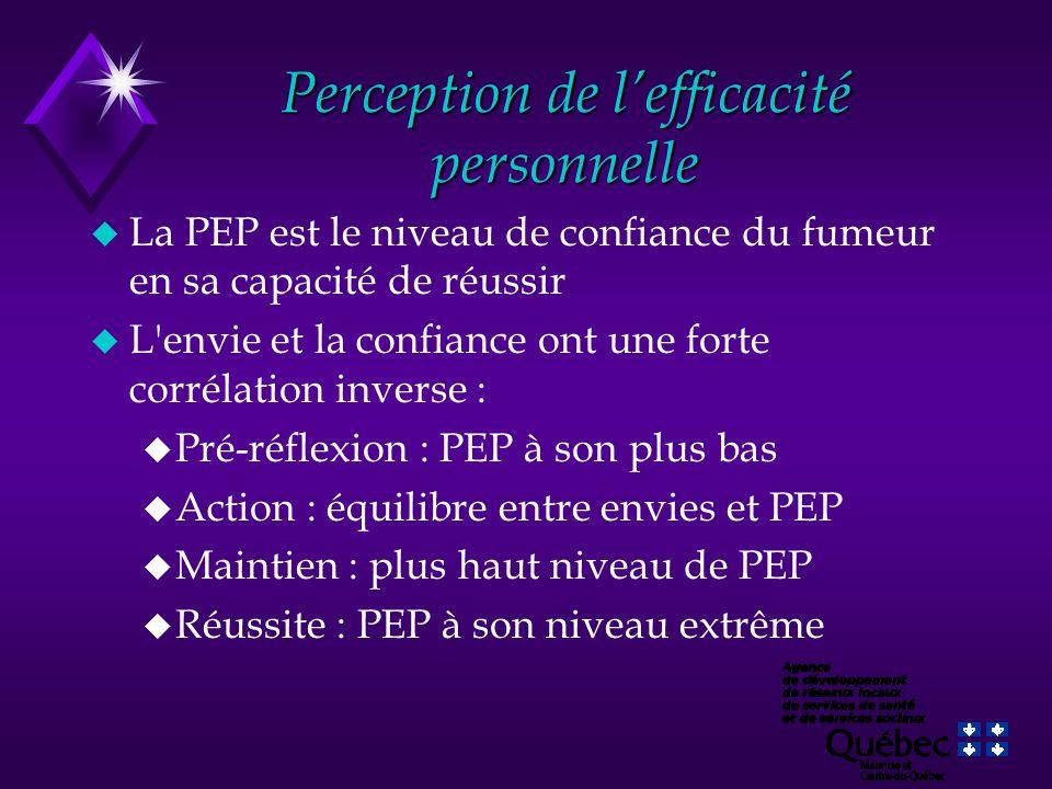 Perception de l'efficacité personnelle