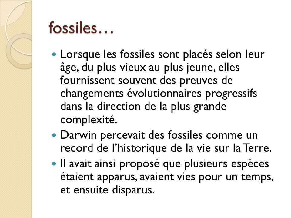 fossiles…