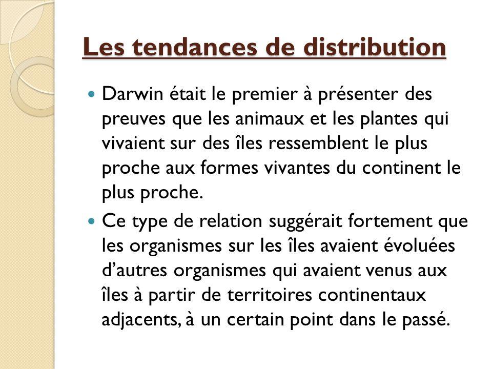 Les tendances de distribution