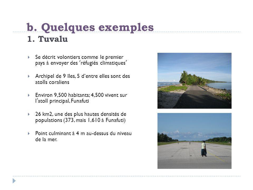 b. Quelques exemples 1. Tuvalu