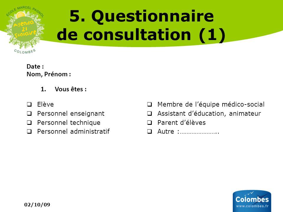 5. Questionnaire de consultation (1)