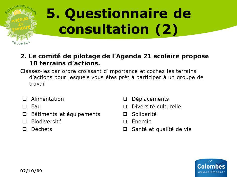 5. Questionnaire de consultation (2)