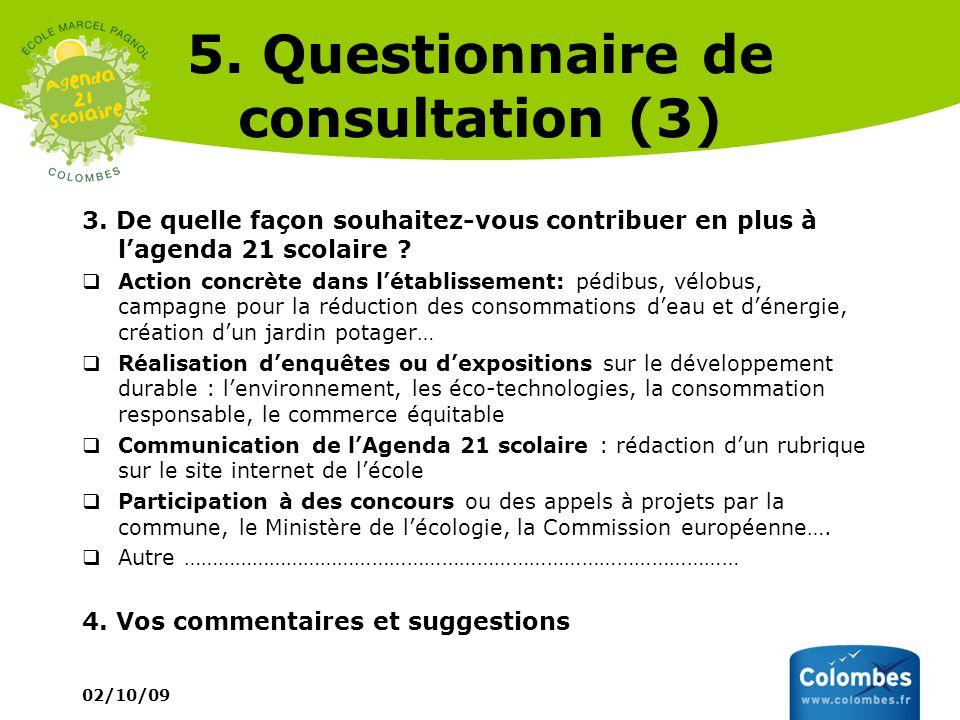 5. Questionnaire de consultation (3)
