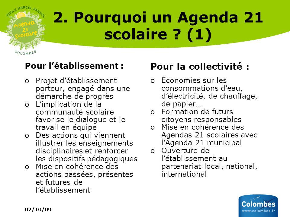 2. Pourquoi un Agenda 21 scolaire (1)