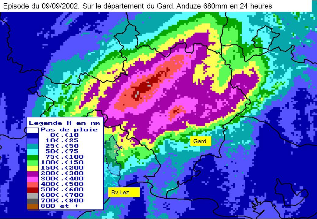 Episode du 09/09/2002. Sur le département du Gard