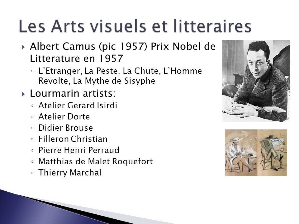 Les Arts visuels et litteraires
