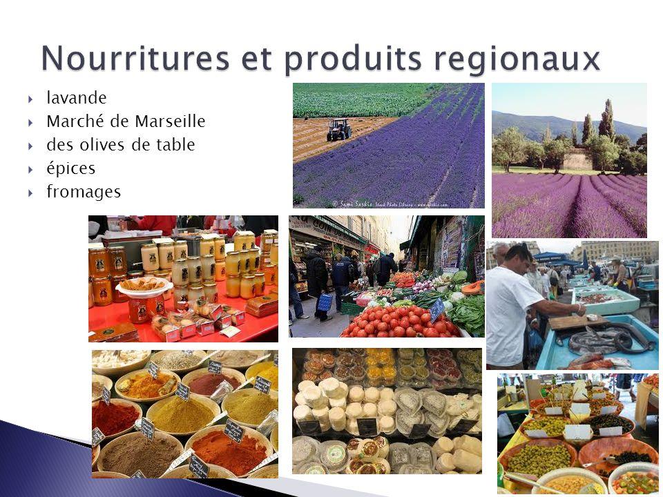 Nourritures et produits regionaux