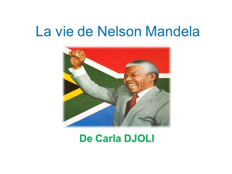 La vie de Nelson Mandela