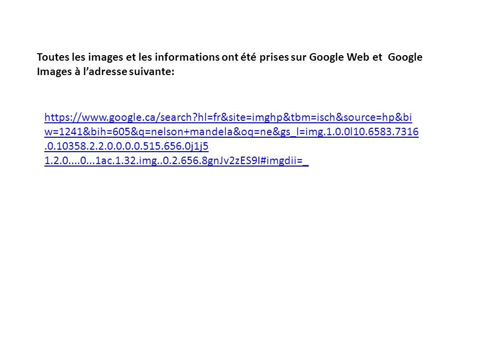 Toutes les images et les informations ont été prises sur Google Web et Google Images à l'adresse suivante: