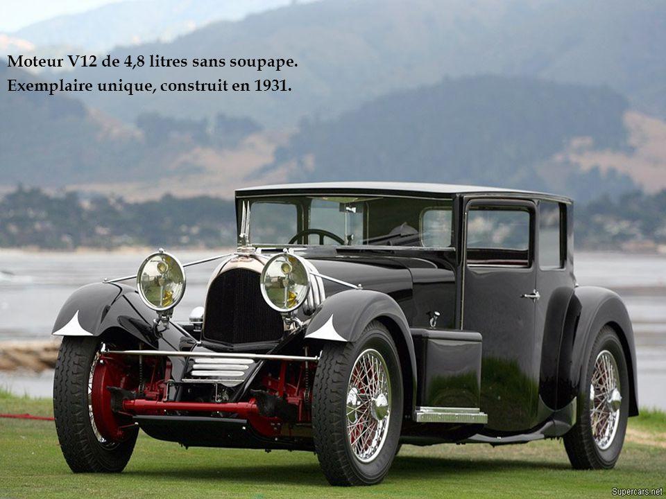 Moteur V12 de 4,8 litres sans soupape.