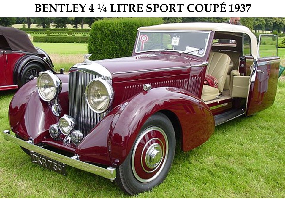 BENTLEY 4 ¼ LITRE SPORT COUPÉ 1937