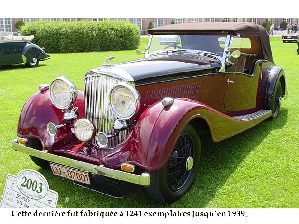 Cette dernière fut fabriquée à 1241 exemplaires jusqu´en 1939.