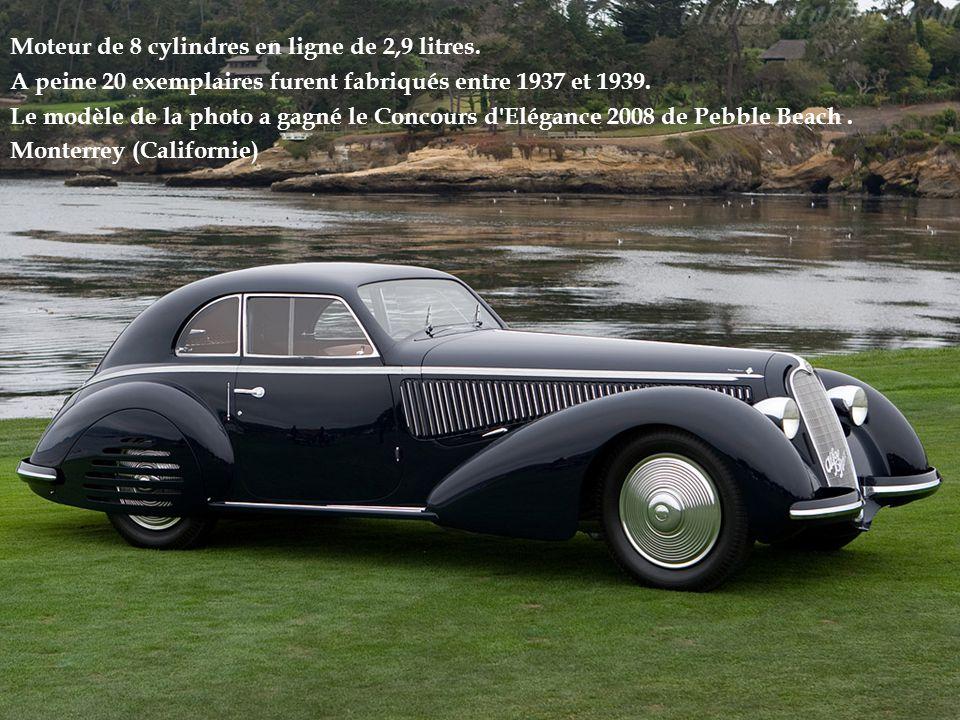 Moteur de 8 cylindres en ligne de 2,9 litres.