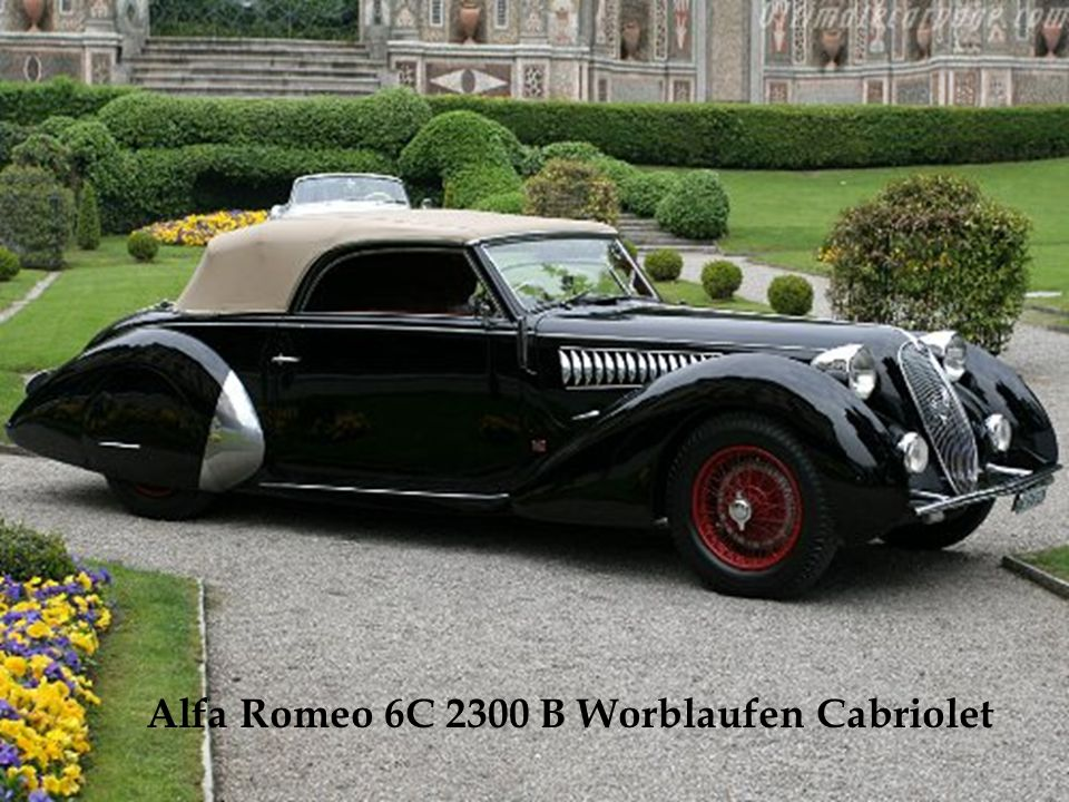 Alfa Romeo 6C 2300 B Worblaufen Cabriolet