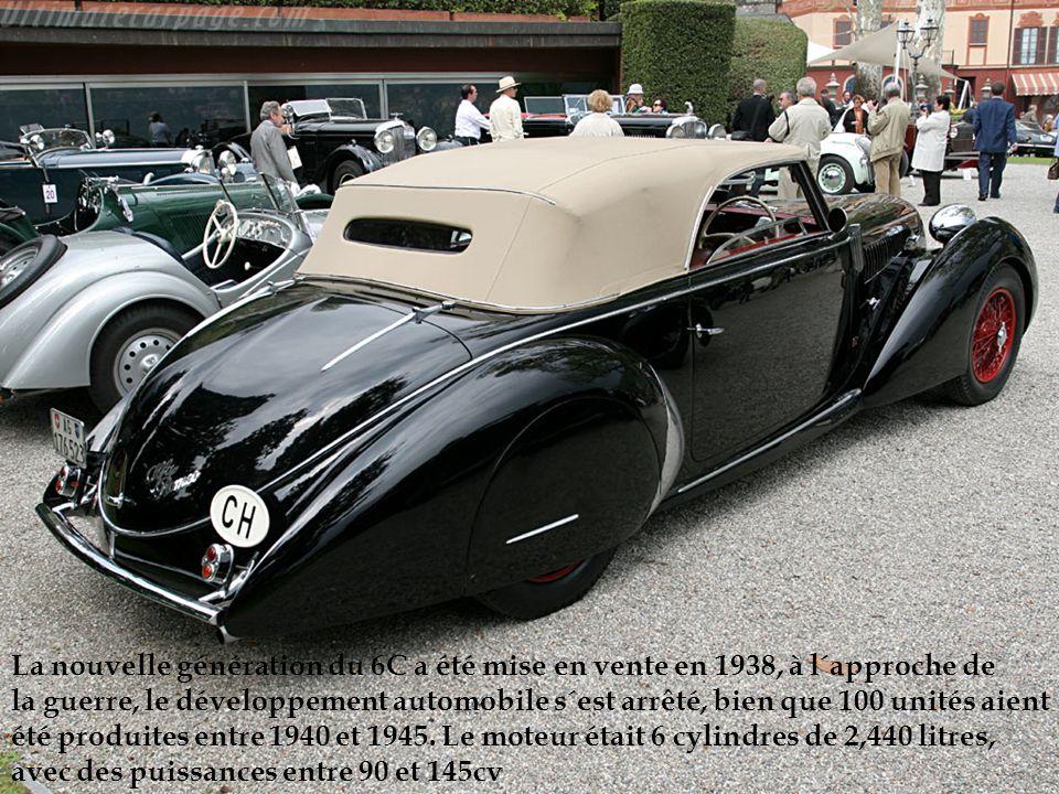 La nouvelle génération du 6C a été mise en vente en 1938, à l´approche de