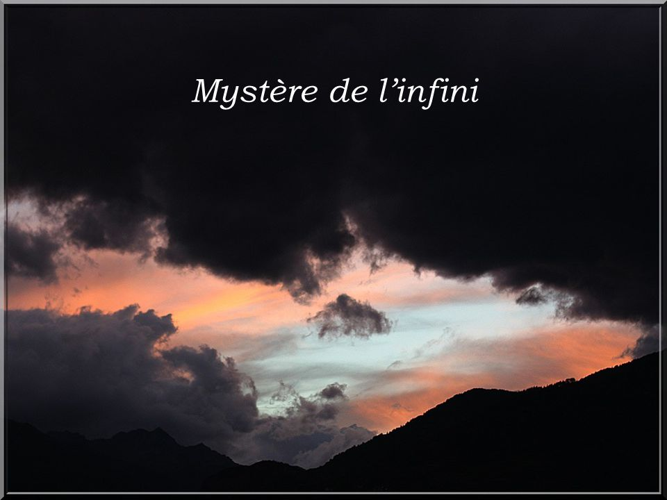 Mystère de l'infini
