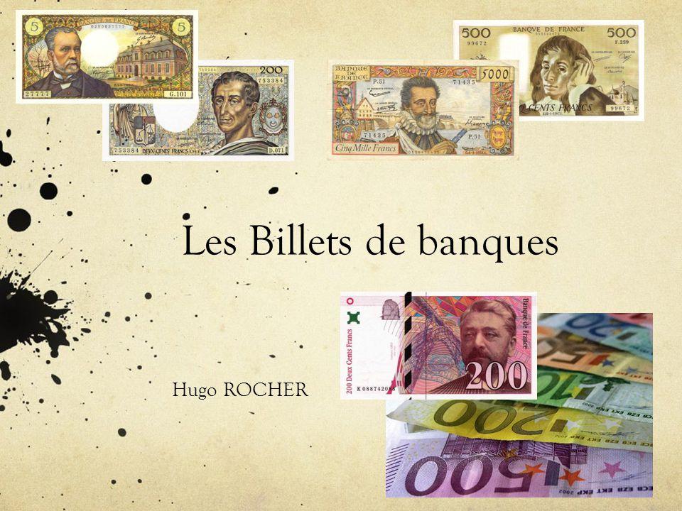 Les Billets de banques Hugo ROCHER