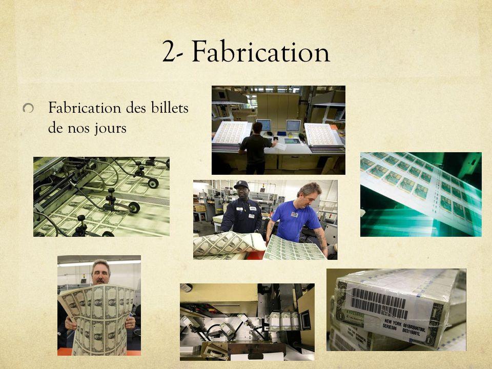 2- Fabrication Fabrication des billets de nos jours