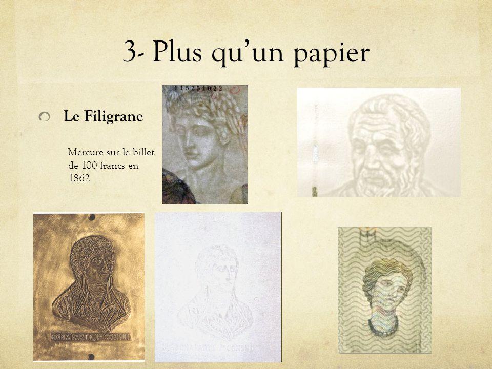 3- Plus qu'un papier Le Filigrane