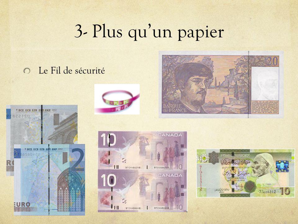 3- Plus qu'un papier Le Fil de sécurité