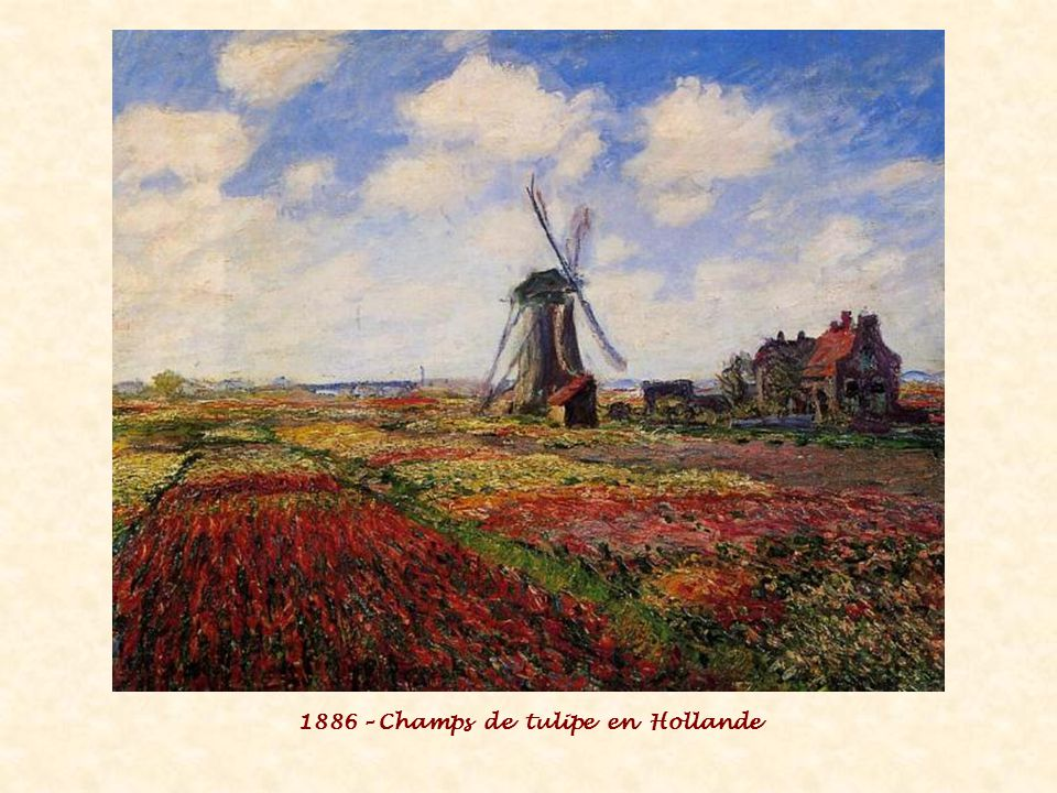 1886 – Champs de tulipe en Hollande