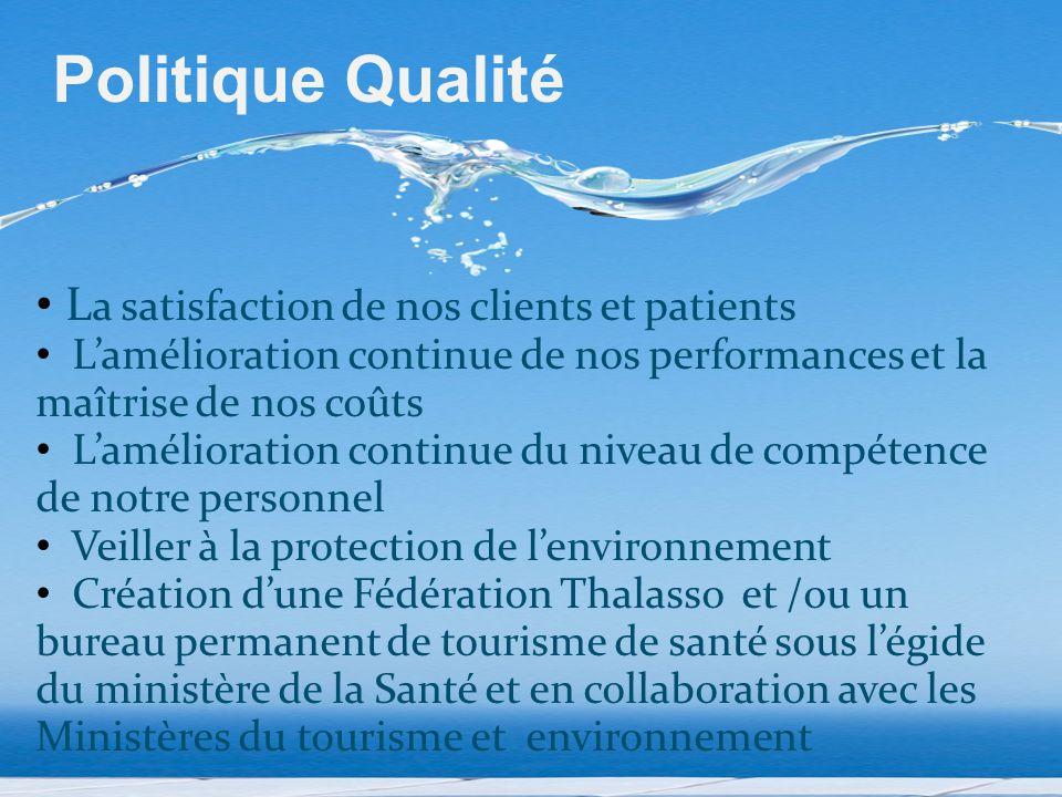 Politique Qualité La satisfaction de nos clients et patients
