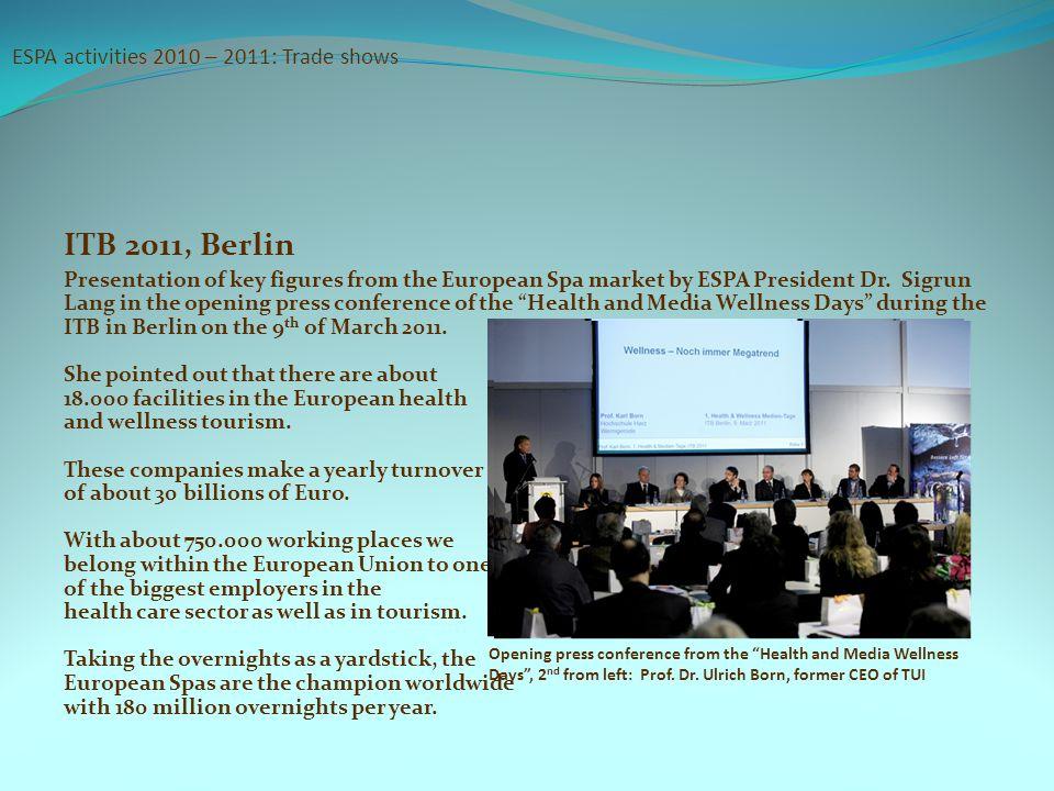 ESPA activities 2010 – 2011: Trade shows