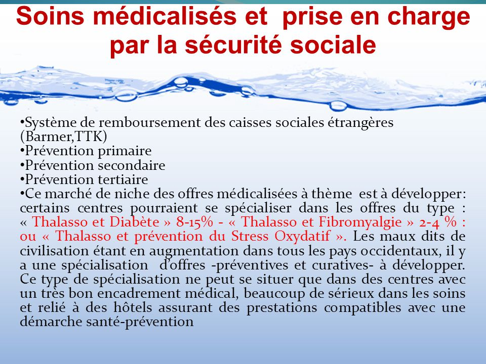 Soins médicalisés et prise en charge par la sécurité sociale