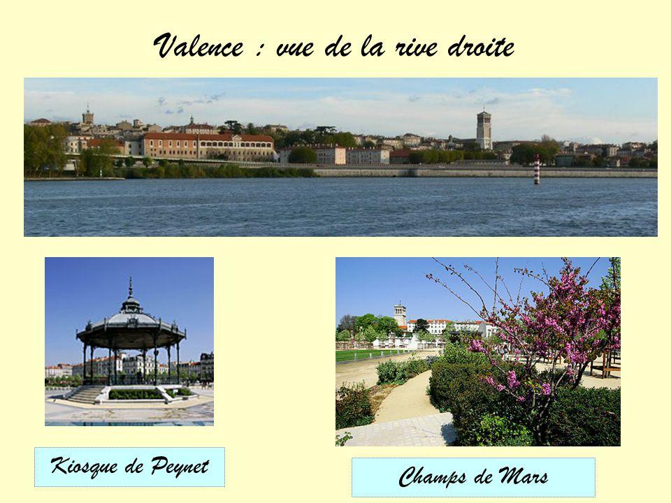 Valence : vue de la rive droite