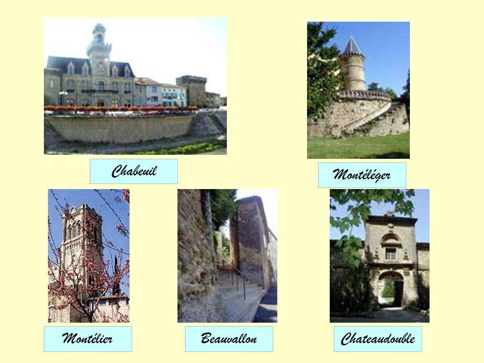 Chabeuil Montéléger Montélier Beauvallon Chateaudouble