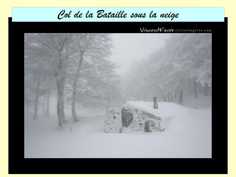 Col de la Bataille sous la neige