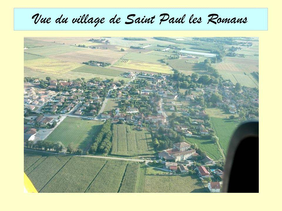 Vue du village de Saint Paul les Romans