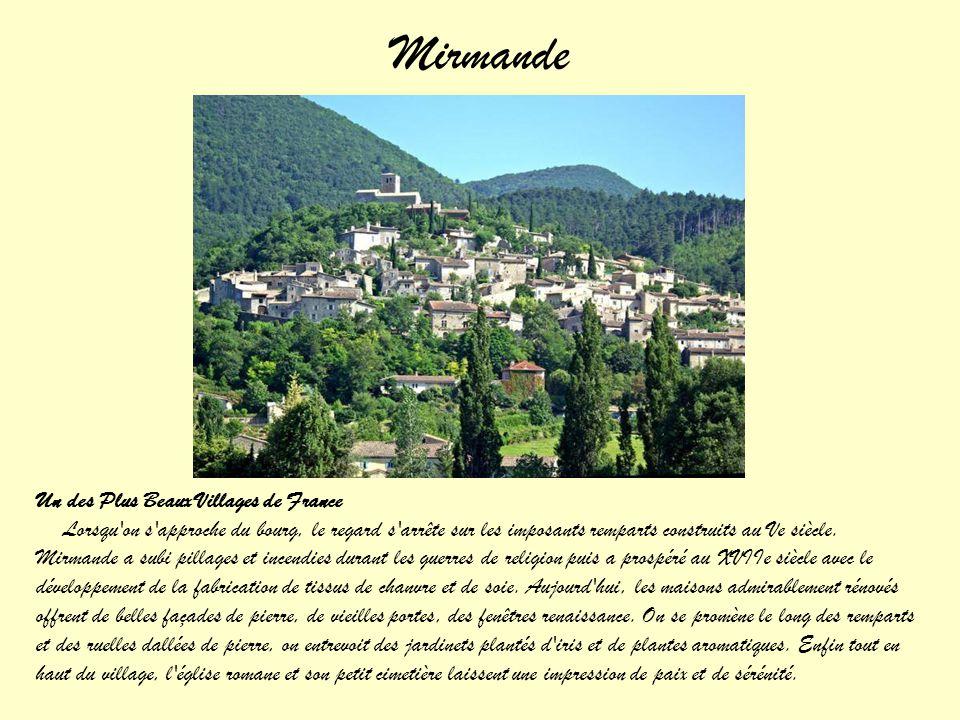 Mirmande Un des Plus Beaux Villages de France