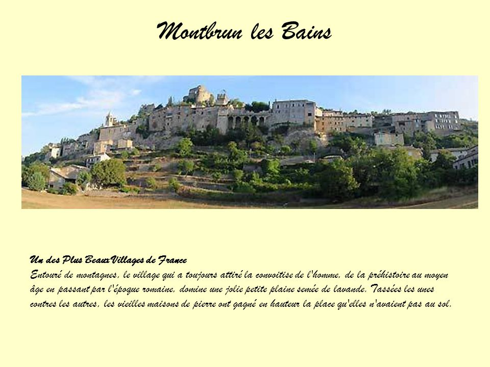 Montbrun les Bains Un des Plus Beaux Villages de France